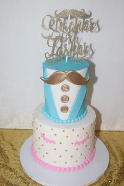 Lashes or Lashes Baby Shower Cake