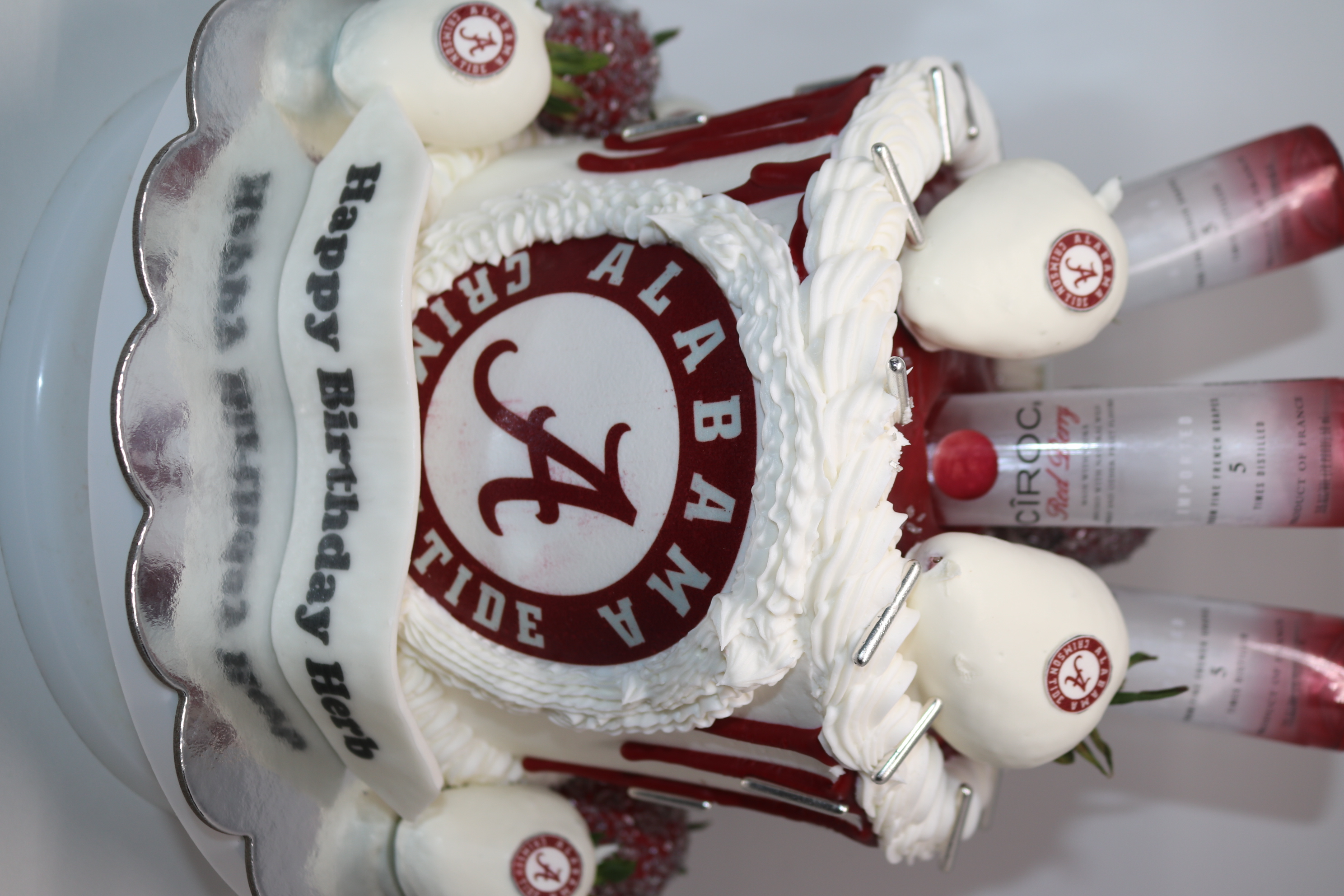 Alabama Crimson Tide Drip Cake