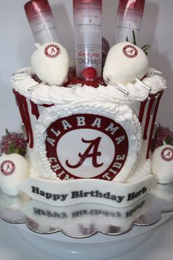 Alabama Crimson Tide Drip Cake