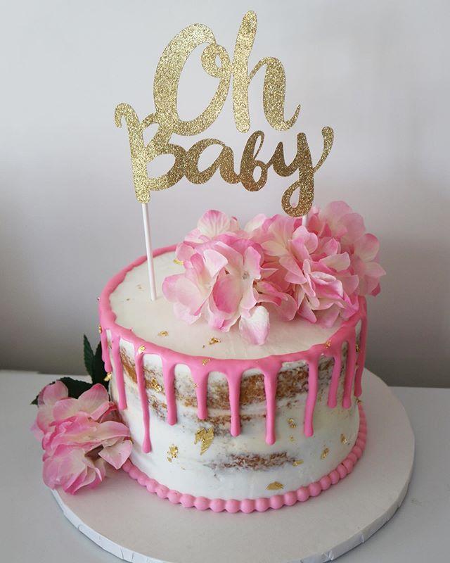 Oh Baby Drip baby Shower Cake