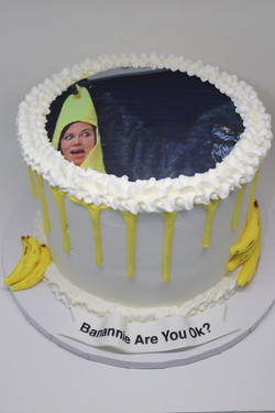 Edible Picture Banana Drip Cake