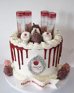 Berry Ciroc Drip Cake