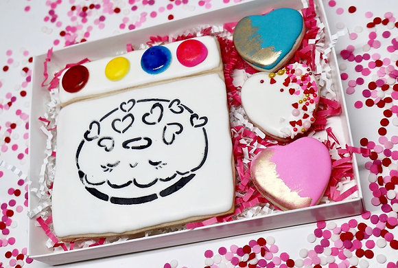 Paint Your Own Sugar Cookie Gift Box