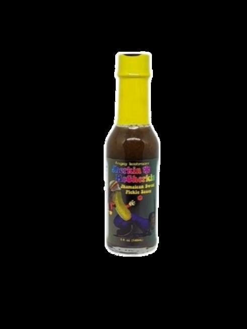 Jherkin McGherkin Jhamaican Sweet Pickle Hot Sauce