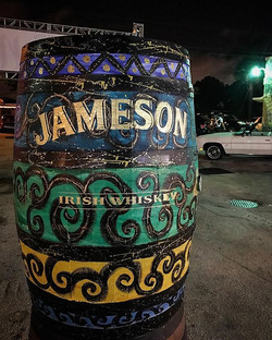 Had such an amazing time live painting this whiskey barrel for _jamesonwhiskey at the HiaLEAH Christ