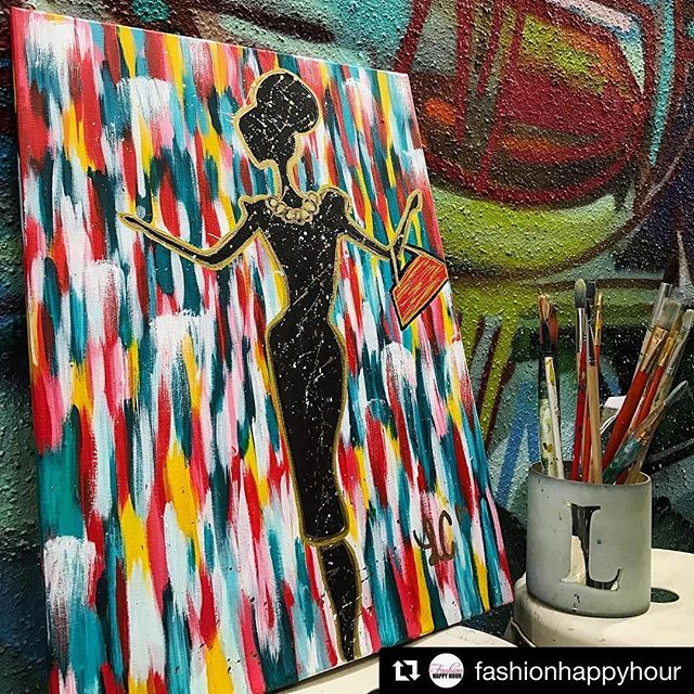 Thanks for having me _fashionhappyhour 💗🎨 #Repost _fashionhappyhour ・・・_#fashionhappyhour Art Base