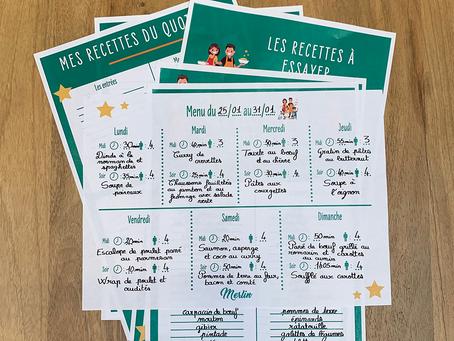 Cinq étapes faciles pour créer votre super menu !