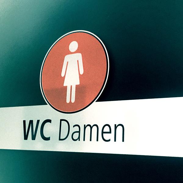 Toilettenbeschriftung