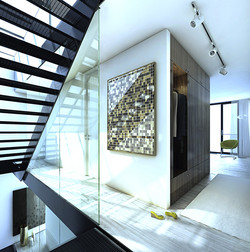 Treppenaufgangsverglasung