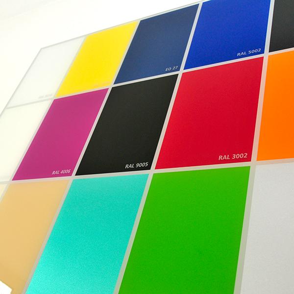 Farbtafel aus Glas