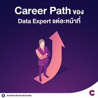 Career Path ของ Data Expert แต่ละหน้าที่