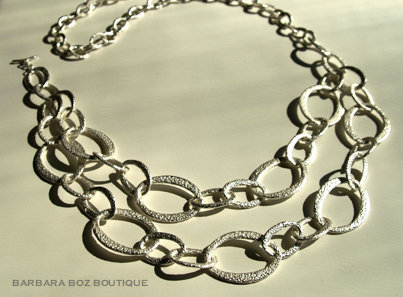 569 Hammered Organic Link Necklace/Belt