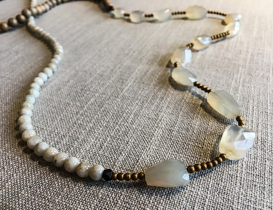 103 Nugget-Mix Colorblock Necklace