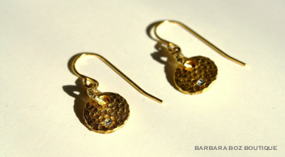 314C Small Hammered Charm Earring