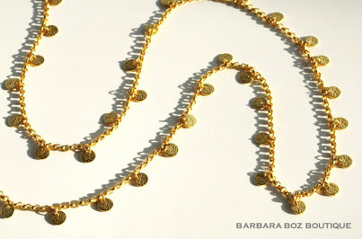691B Chain with Small Hammered Charms