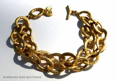 197C Hammered Organic Small Link Bracelet