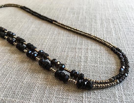 135 Double-Rondel Mix Colorblock Necklace