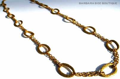 876 Hammered Organic Medium Link & Chain Necklace Medley