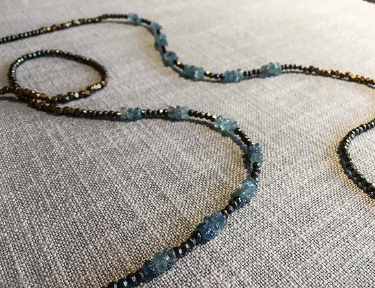 123 Double-Rondel Mix Colorblock Necklace