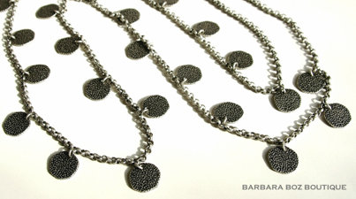 688 Chain with Large Hammered Charms