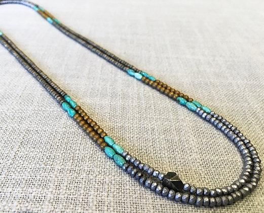41  Racing Stripes Colorblock Necklace