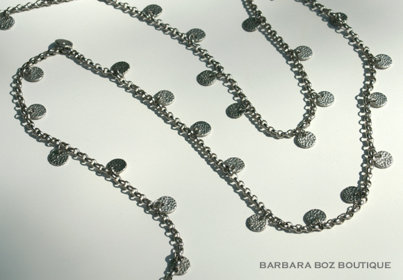 691A Chain with Small Hammered Charms