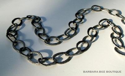 581 Hammered Organic Link Necklace/Belt