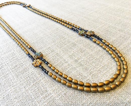 45  Petite Flower Power Colorblock Necklace