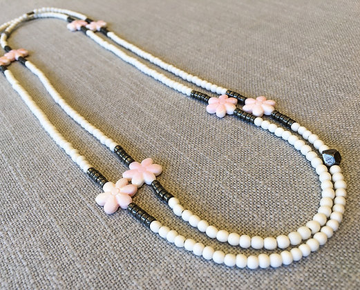 53  Grande Flower Power Colorblock Necklace