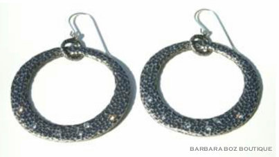276B Hammered Organic Hoop Earring