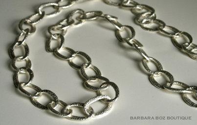 580 Hammered Organic Link Necklace/Belt