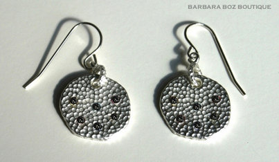 282A Large Hammered Charm Earring