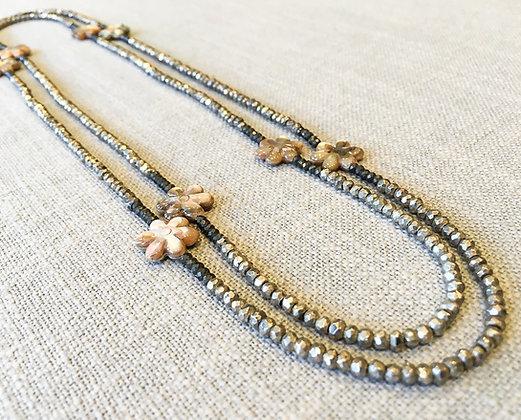 48  Grande Flower Power Colorblock Necklace