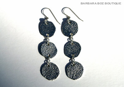 944 3-Large Hammered Charms Earring