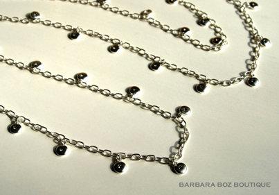 682 Lentil Chain with Swarovski Crystals