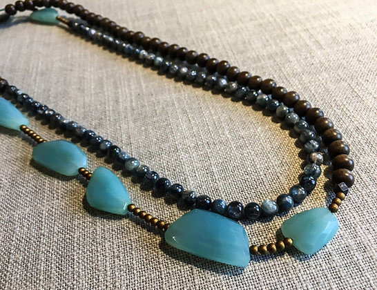 111 Nugget-Mix Colorblock Necklace