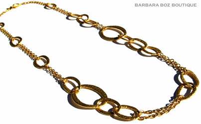 882 Hammered Organic Medium & Large Link & Chain Necklace Medley