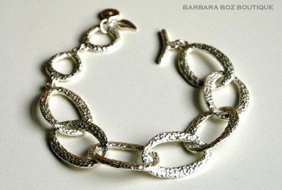 177 Hammered Organic Medium Link Bracelet