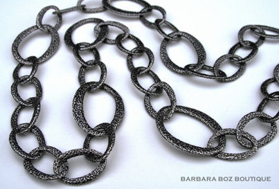 573 Hammered Organic Link Necklace