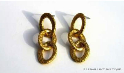 247 Hammered Organic 3-Small Link Earring