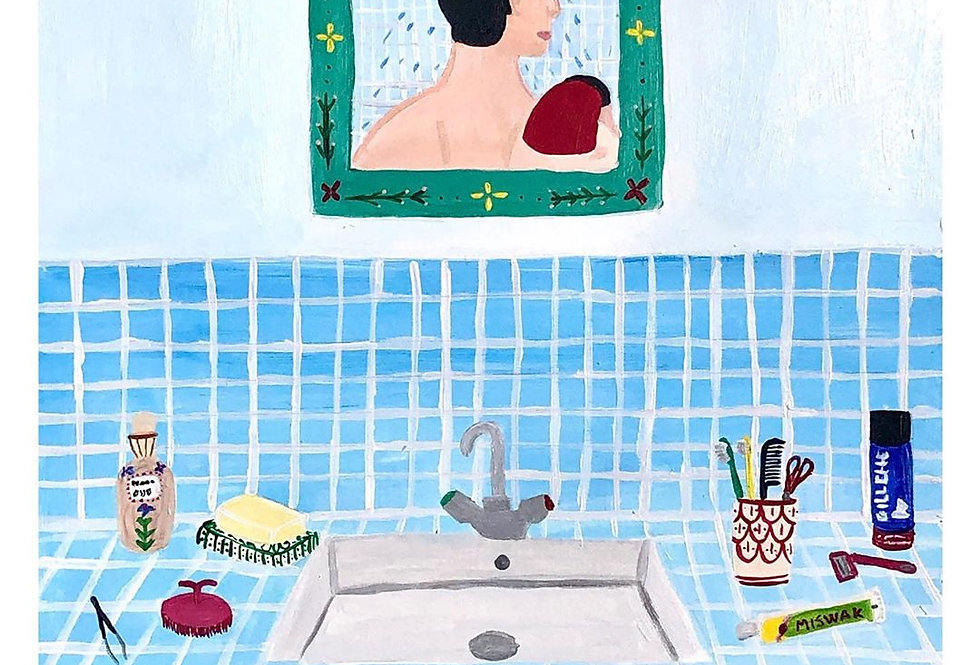 Original Moroccan Acrylic Print - The Shower