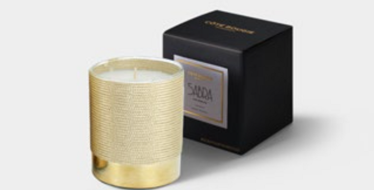 Handmade Scented Candle - The Sabra Gold - Christmas Edition