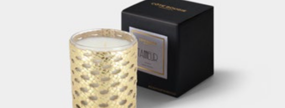 Handmade Scented Candle - The Tanneur Gold - Christmas Edition - Small