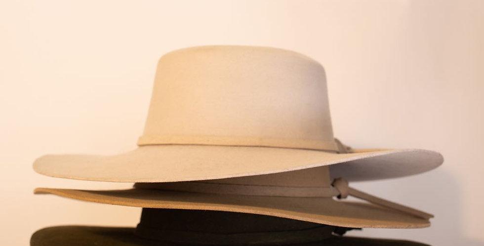 Handmade Oaxaca Wool Flat Top Hat
