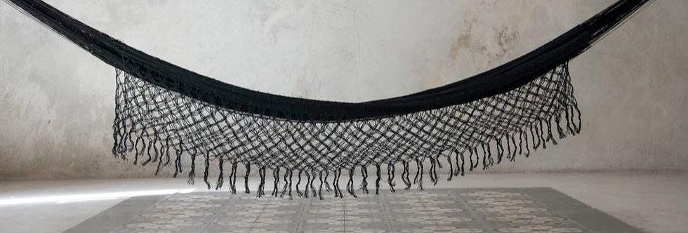 Handwoven Artisanal Cotton Hammock with Open-Macramé Details
