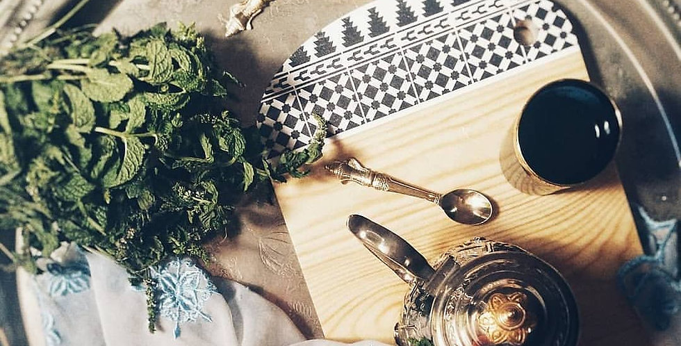 Handmade Moroccan Wooden Cutting & Serving Board