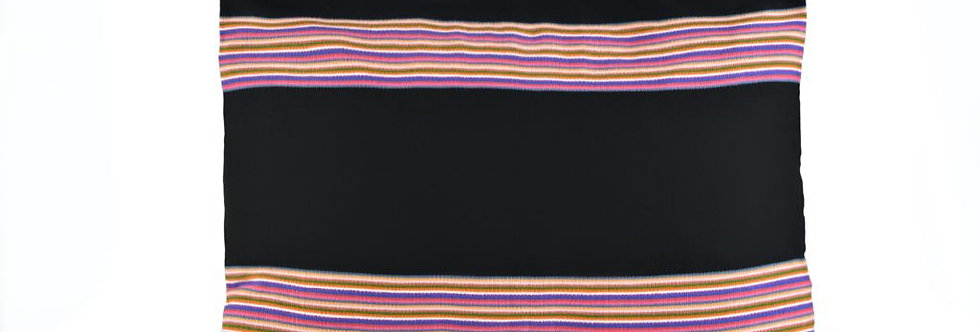 Handwoven Mexican Trompo Pillow - Rectangle