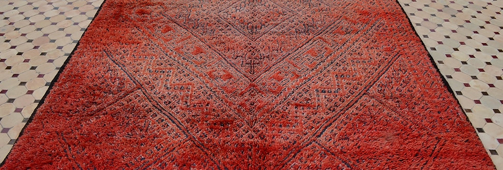 Handmade Vintage Zayane Motif Rug
