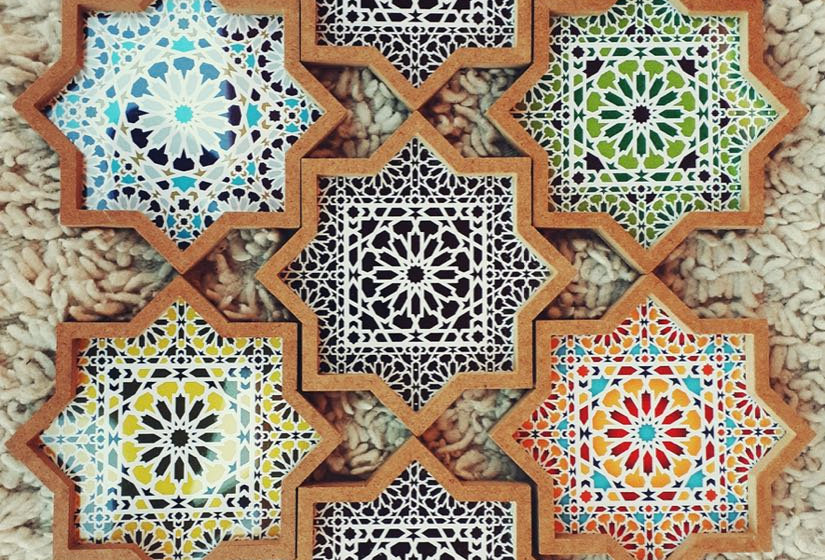 Moroccan Star Serving Trays - Set of 3