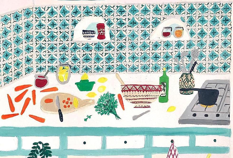Moroccan Acrylic Print - Carrots with Lemons